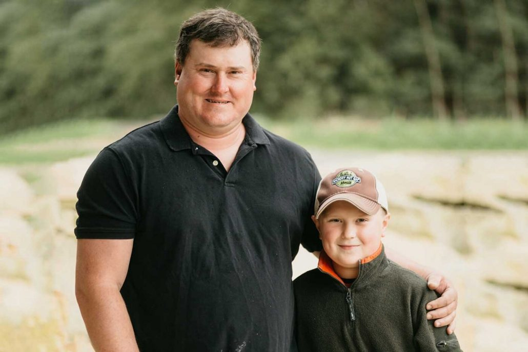 farmer Sam Dobson and son Chase