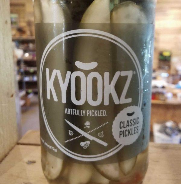 jar of KYOOKZ classic spear pickles