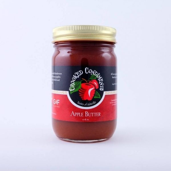 pint jar of Crooked Condiments apple butter